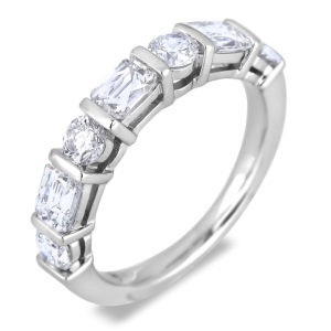 18K white gold anniversary wedding band