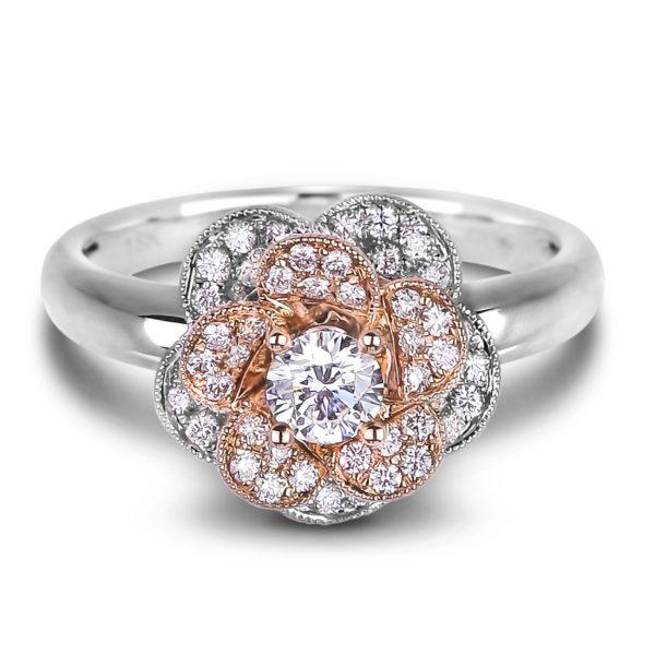 forevermark diamond flower engagement ring