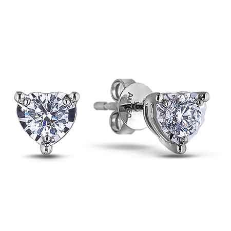 0 45 Carat Tw Canadian Diamond Stud Earrings In White Gold