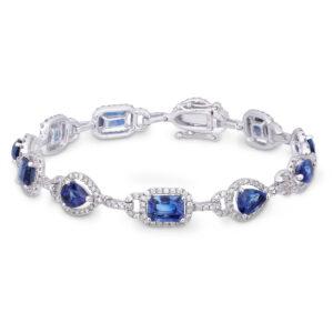 sapphire diamond bracelet