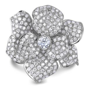 forevermark diamond flower ring