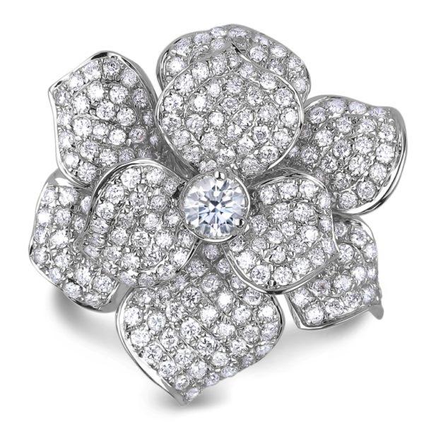 forevermark diamond flower ring
