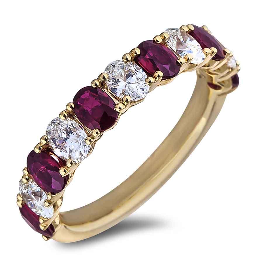 Ruby Wedding Rings.Ruby And Diamond Anniversary Ring