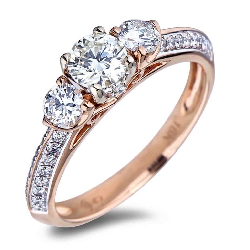 Forevermark Diamond Trilogy Engagement Ring