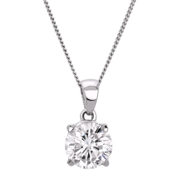 gia diamond solitaire pendant