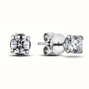 ideal cushion diamond studs earrings