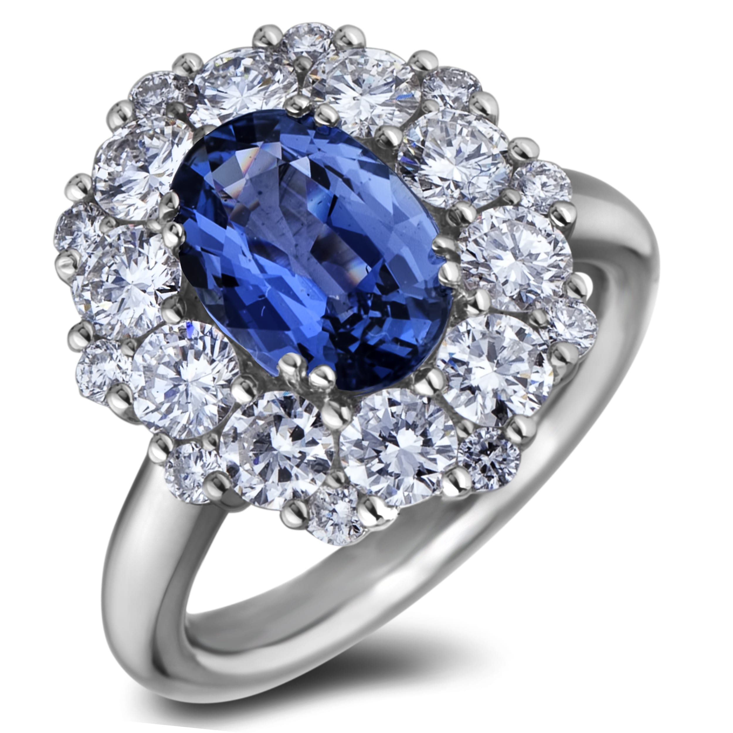 Cornflower Blue Ceylon Sapphire Amp Diamond Ring Lugaro