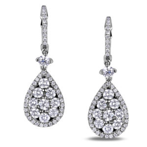 Forevermark diamond halo drop earrings