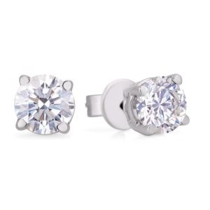 Canadian round diamond stud earrings