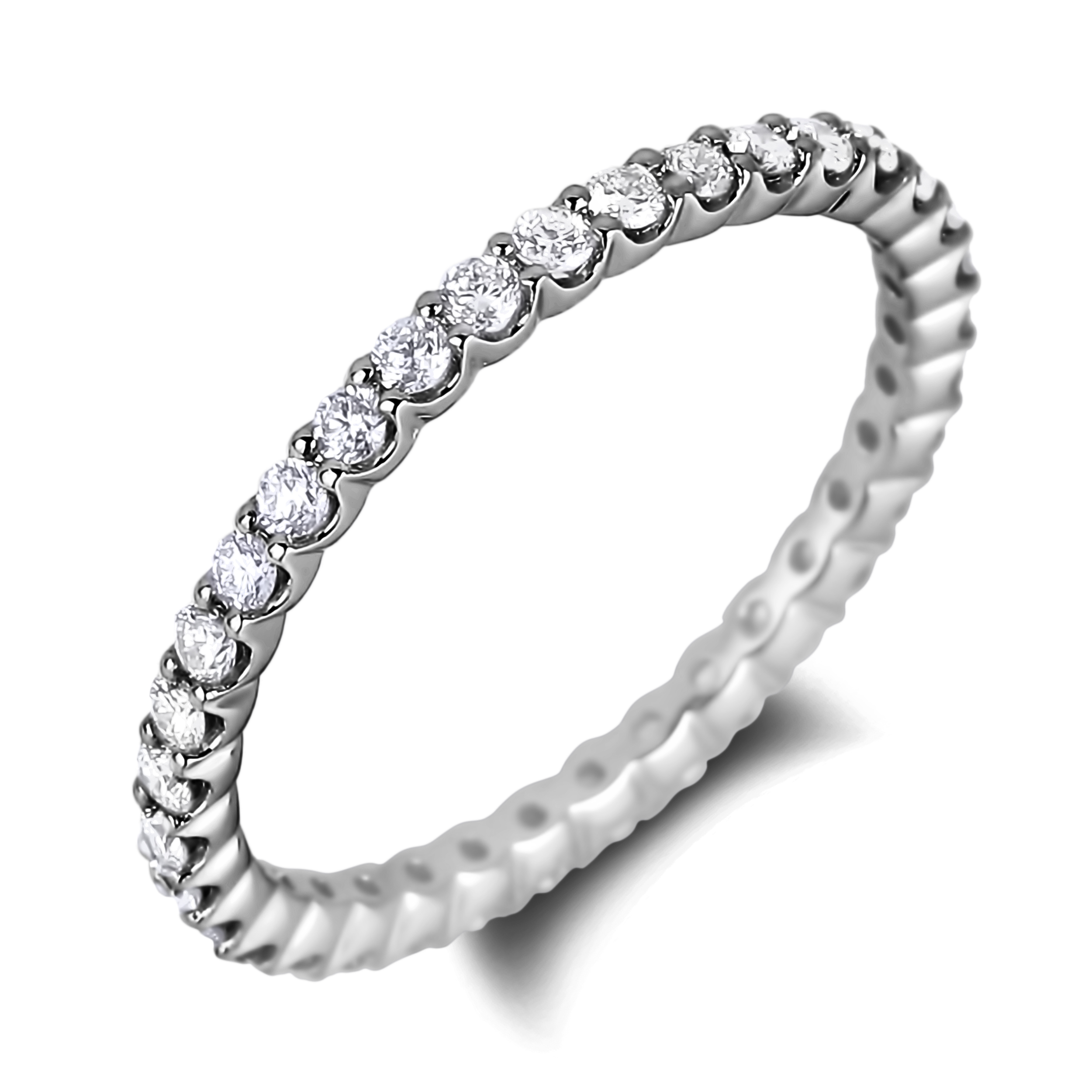 This is a picture of Diamond Eternity Wedding Band Ring