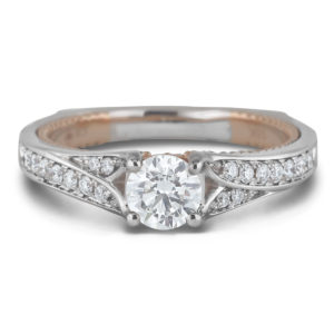 canadian diamond chanel set engagement ring