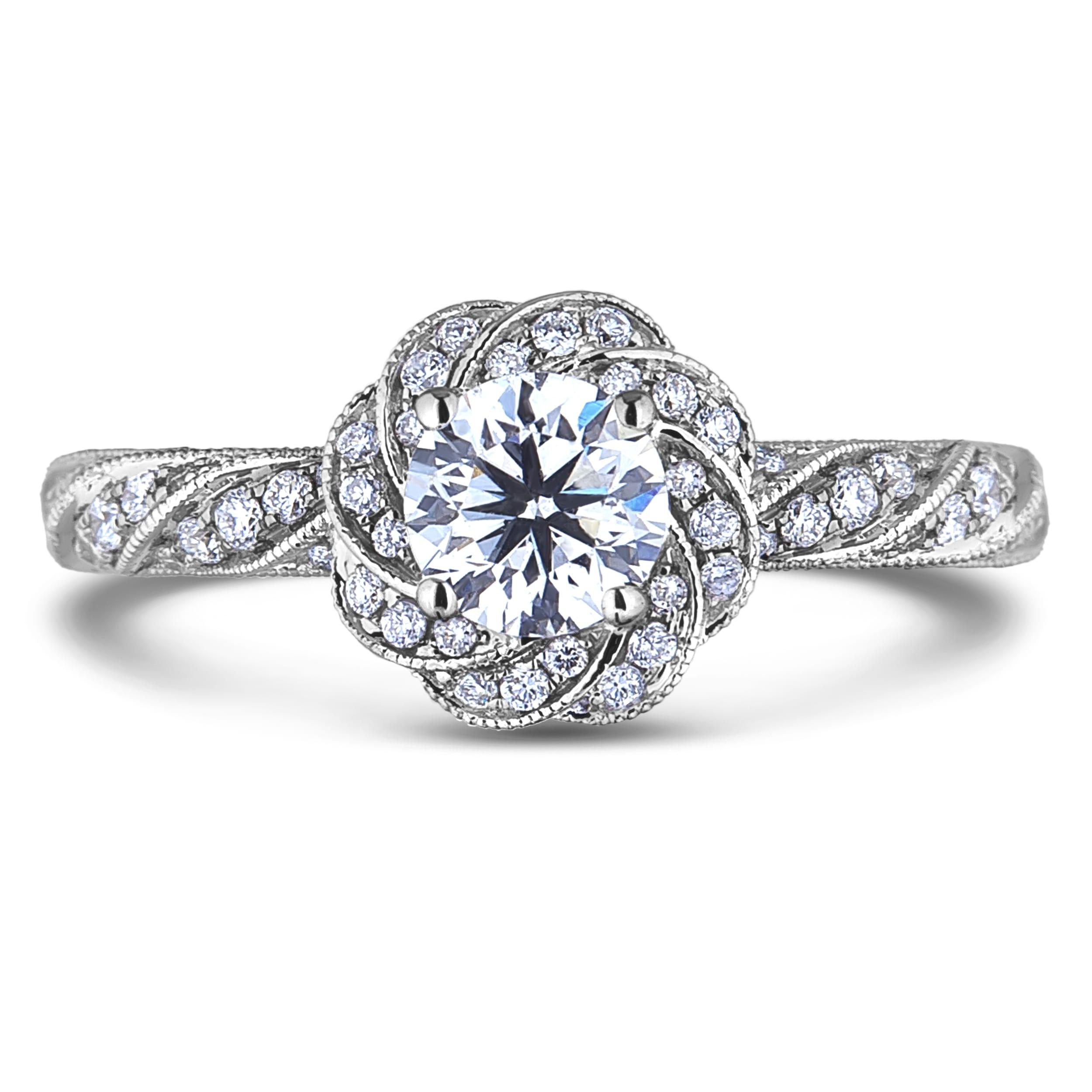 Forevermark Diamond Flower Engagement Ring In 18k Gold
