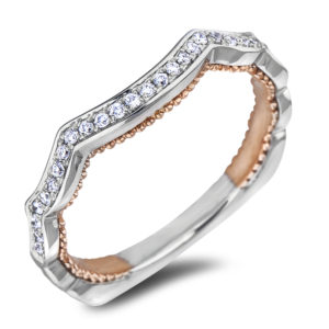 Ladies Diamond Matching Curved Wedding Band