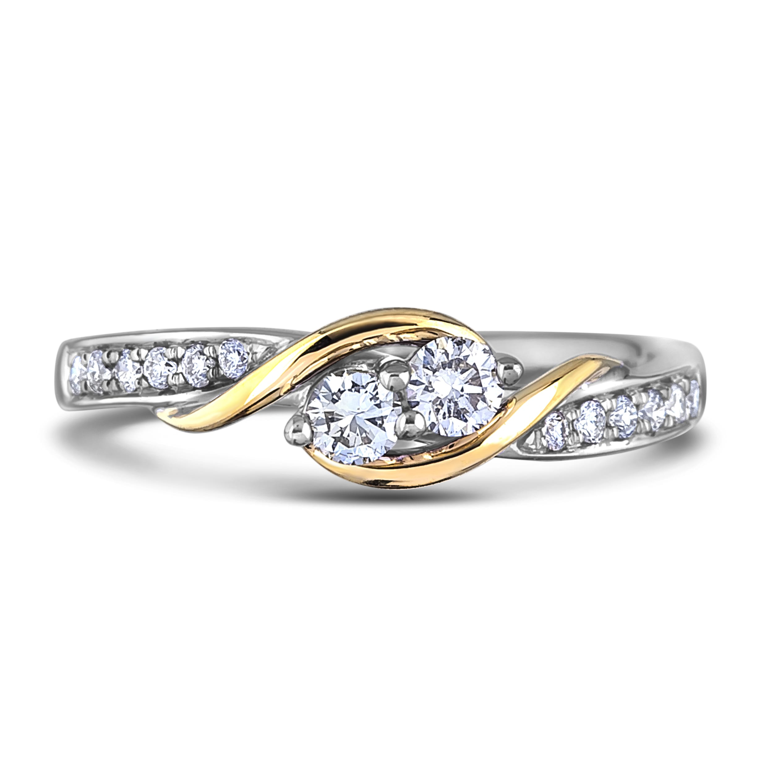 433309512a1ae CANADIAN DIAMOND TWO STONE PROMISE RING