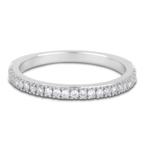 ladies' white gold diamond wedding band