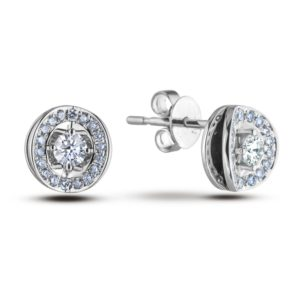 Forevermark Diamond frame earrings studs