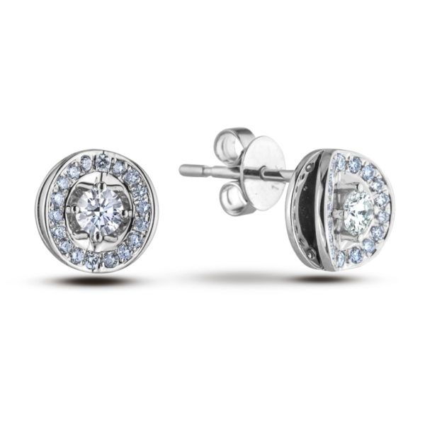 Forevermark Diamond frame earrings studs