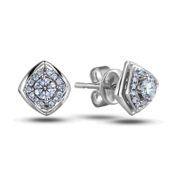 Forevermark Halo diamond earrings