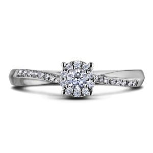 canadian diamond side stones halo engagement ring