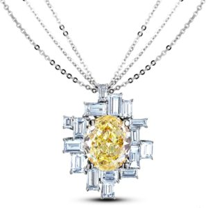 gia fancy yellow diamond pendant
