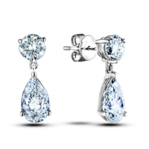 canadian diamond tear drop earrings