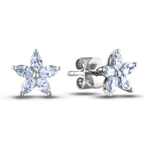 canadian diamond flower earring studs