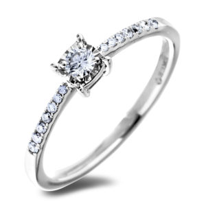 canadian diamond square frame engagement ring