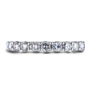 Claw set Canadian diamond anniversary ring