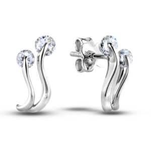 canadian diamonds wave earrings
