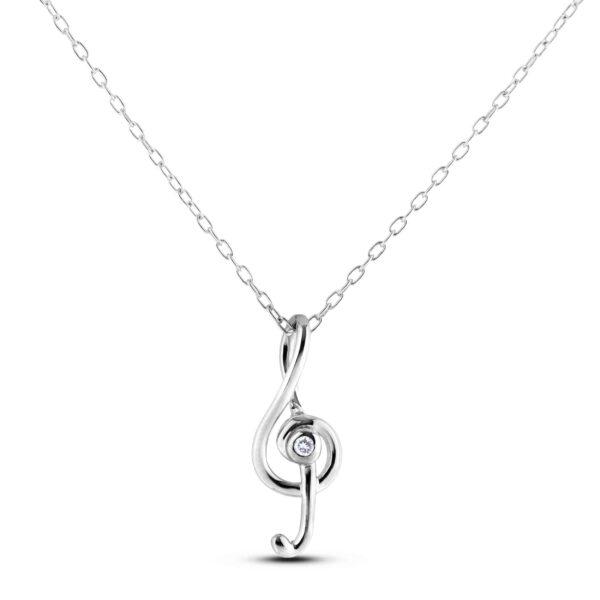canadian diamond music note pendant