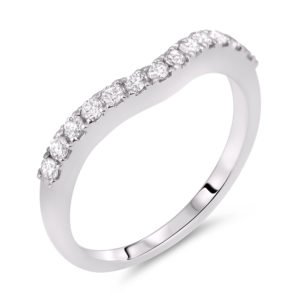 universal diamond matching wedding band