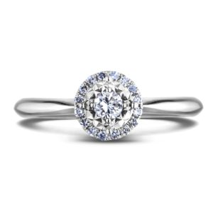 canadian round diamond halo ring