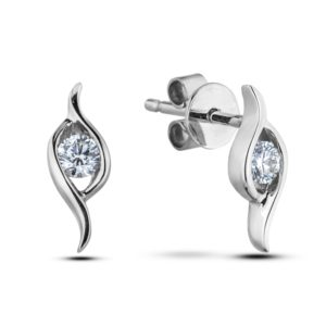 Forevermark Swerve Tension Set Diamond Studs