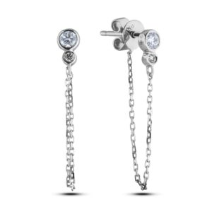Forevermark Diamond Chain Loop Drop Earrings