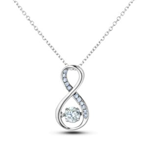 Canadian diamond infinity pendant