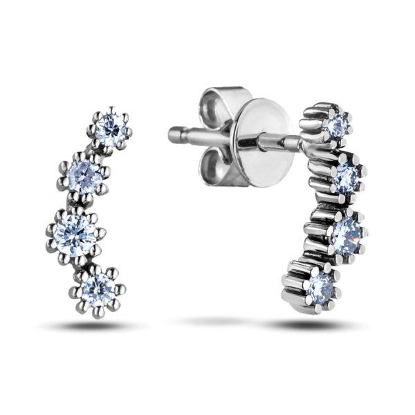 Round Cut Fancy Diamond Earrings Studs