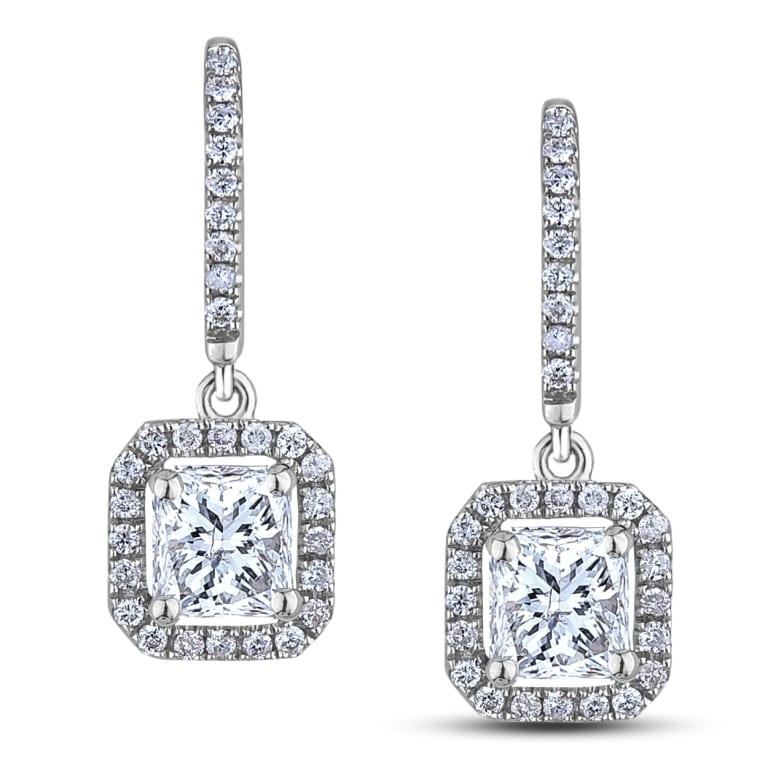 Canadian Diamond Dangle Earrings