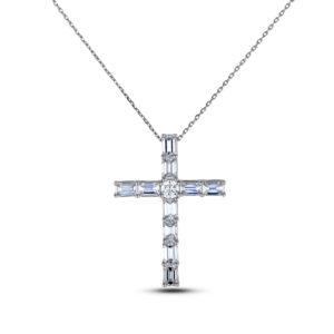 Forevermark diamond cross pendant