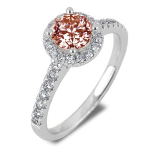 canadian diamond fancy brown halo engagement ring