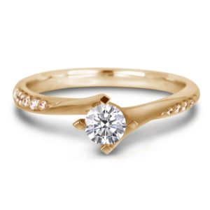 canadian diamond side stones engagement ring