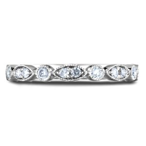 diamond Marquise & Round frame anniversary wedding band