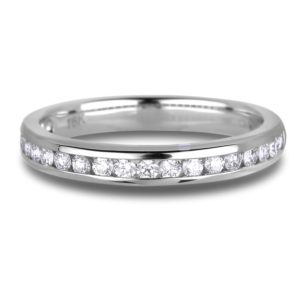 Eighteen round diamonds anniversary wedding band