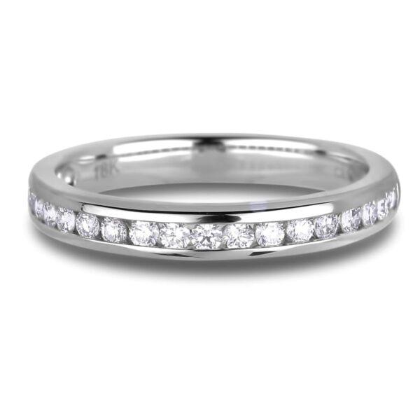 Eighteen round diamonds anniversary wedding band