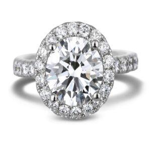 Canadian Oval shape Diamond Halo Ring