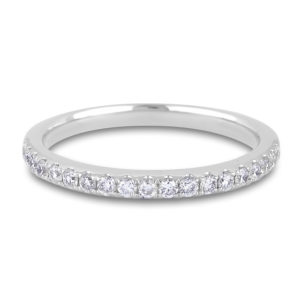 Ladies' wedding band in white gold