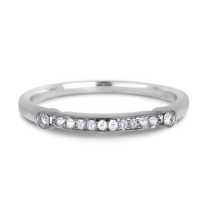 Ladies Round Diamond Matching Wedding Band