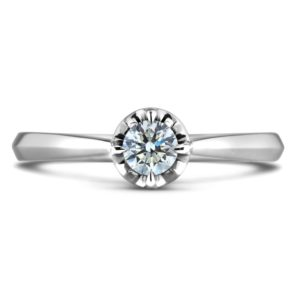 canadian round diamond solitaire ring