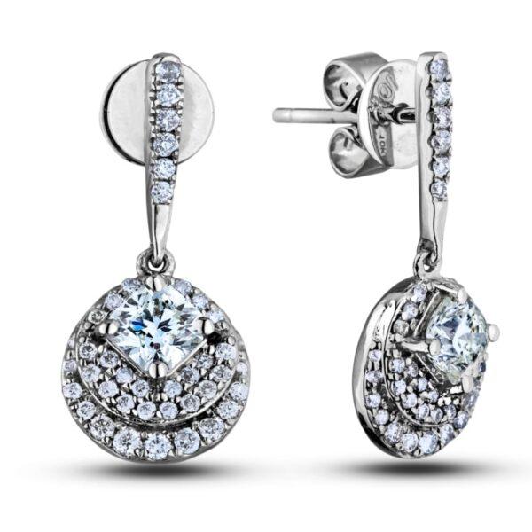 deal Square canadian diamond dangle earrings