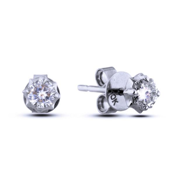 canadian round diamond earring studs