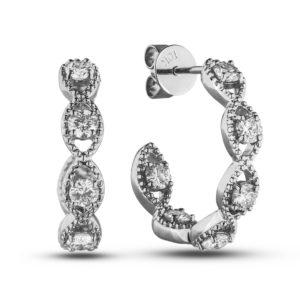 1 Carat TW Diamond Hoop Earrings